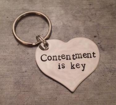 'Contentment is key' keyring by Shimmering Hope