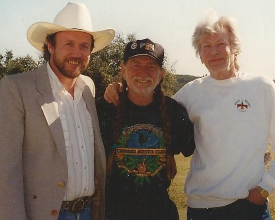 Jimmy Day, Willie Nelson, Hermann Lammers Meyer ( Photo by Jürgen Koop)