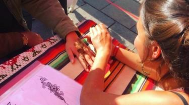 Henna artist Tara Adhikari